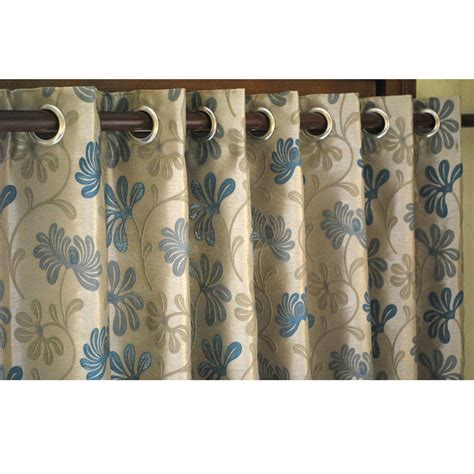 teal and beige curtain panels 52x84 grommet