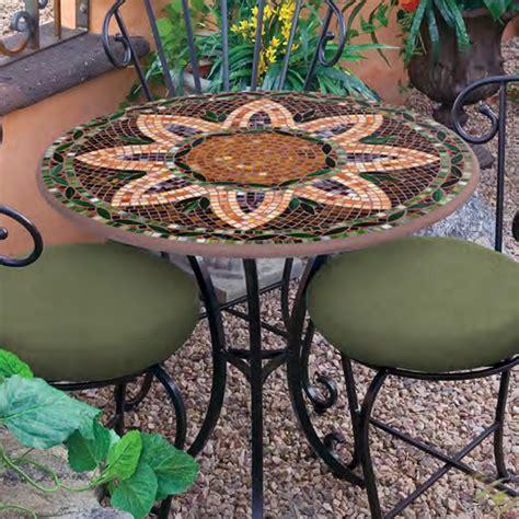 knf designs  mosaic bistro set   iron accents