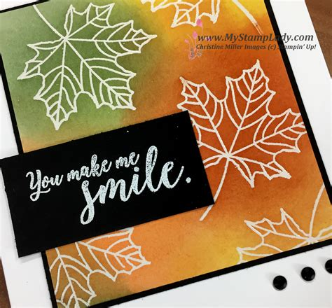 colorful seasons a clean and simple glossy paper emboss resist with