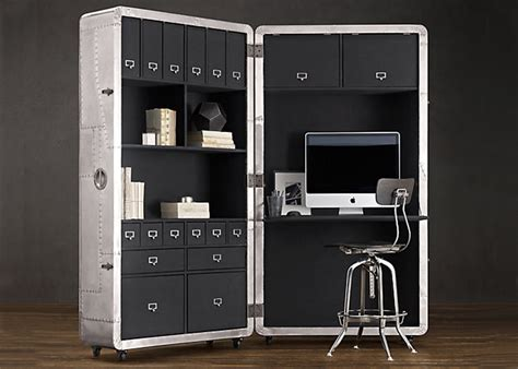 restoration hardware office desk space saving mobile home office takes inspiration from mid