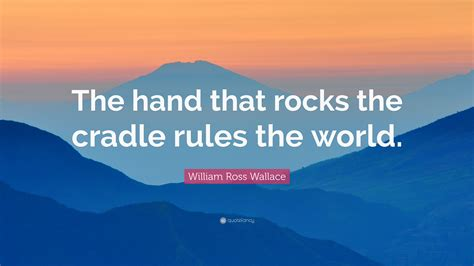 william ross wallace quote  hand  rocks