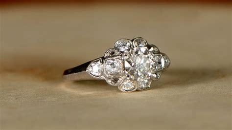 upgrade  engagement ring estate diamond