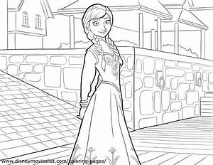 Anna Coloring Page - Princess Anna Photo (36145786) - Fanpop