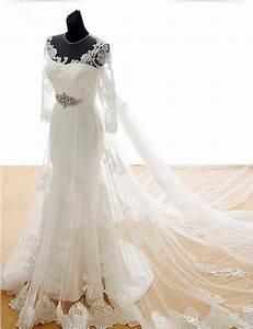 Transparent Mermaid Wedding Dresses 2017 Long Sleeve ...