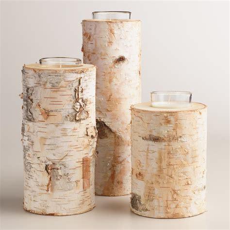 birch candle holders birch votive candle holder world market