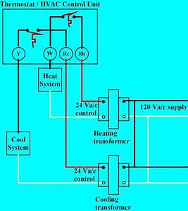 Thermostat Heat And Cool 2 Transformers On Furnace Thermostat Wiring Diagram