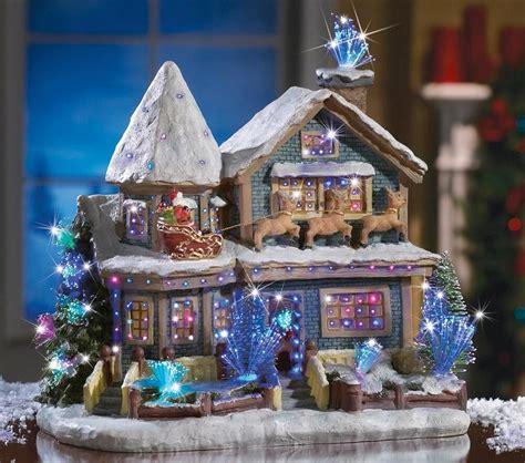 beautiful fiber optic lighted christmas holiday santa