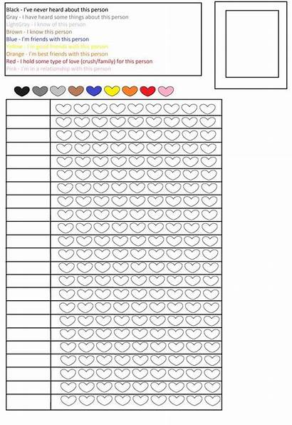 Blank Chart Pencil Colored Charts Relationship Pencils