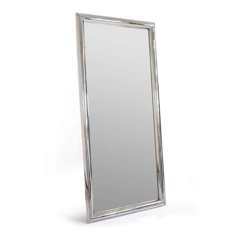 mur chambre miroir rectangulaire en inox