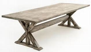 Modern Rustic Wood Dining Table by X Base Table Solid Wood Dining Table Hand Made Custom