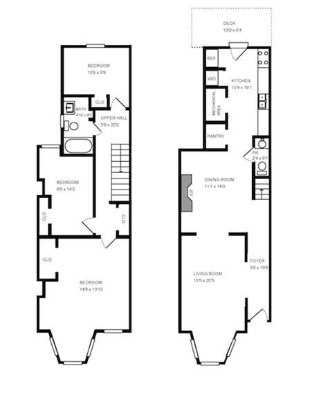 row house floor plan row home floor plans house design plans
