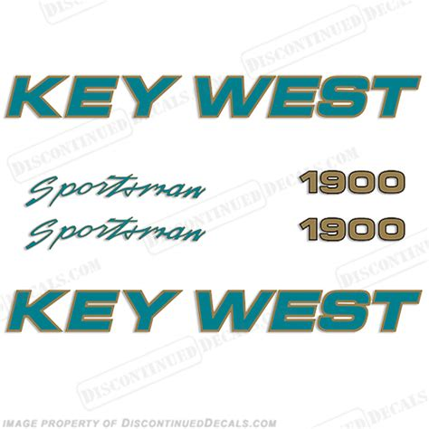 Sportsman Boats Decal by Key West Sportsman 1900 Boat Decals