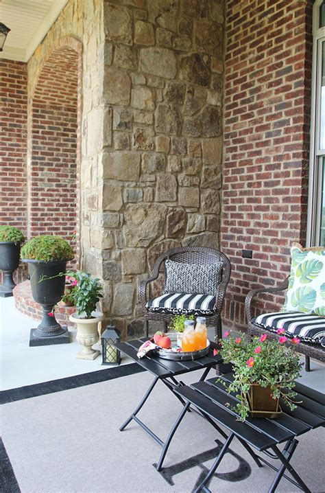 front porch rugs easy diy initial outdoor rug front porch freshen up