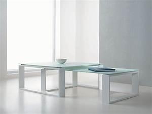 Table Basse En Acier : adone table basse en verre et acier ~ Melissatoandfro.com Idées de Décoration