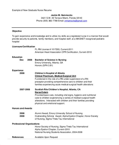 new grad nursing resume clinical experience nursing student resume example 10 free word pdf