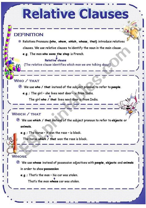 relative clause examples  examples