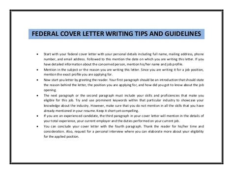federal cover letter guidelines federal cover letter sle pdf