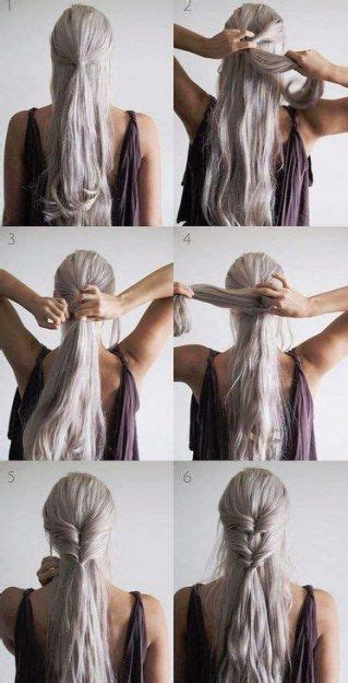 tuto coiffure mariage cheveux long coiffure simple  facile