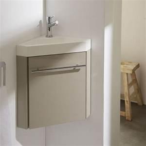 Petit Lave Main D Angle Wc : meuble lave main d 39 angle couleur daim vasque planetebain ~ Premium-room.com Idées de Décoration