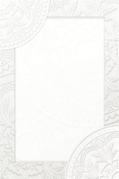 white rectangle ramadan arabesque patterned frame