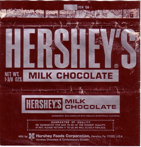 candy wrapper 1960s hershey wrapper archive