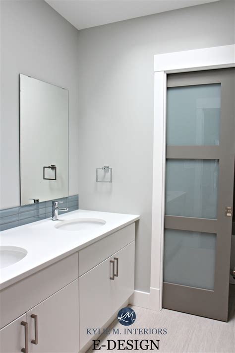 benjamin stonington gray and chelsea gray small bathroom modern m interiors e