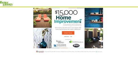 top 28 better homes and gardens daily sweepstakes