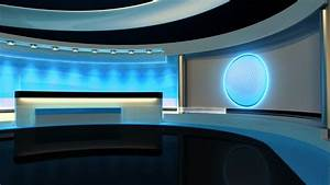 Newscast Set Green Screen Video | Stock Footage