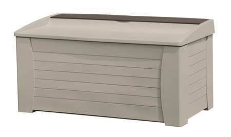 Suncast Db12000pb Deck Box 127 Gallon by Suncast Deck Box With Seat 127 Gal Taupe Db12000 Zoro