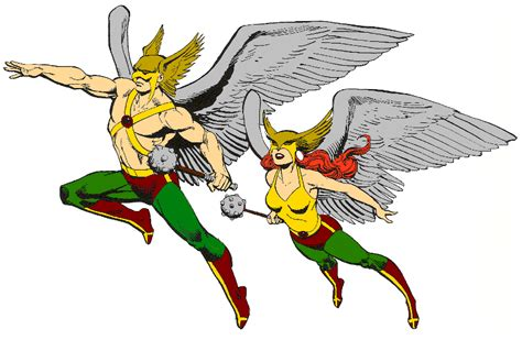 Hawkman And Hawkgirl By Gilgamesh-scorpion On Deviantart