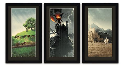 Lord Of The Rings Trilogy Posters By Artist Matt Ferguson
