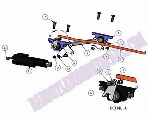 Bad Boy Mower Part  2011 Diesel Deck Lift  U0026 Actuator Assembly