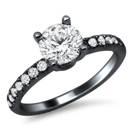 18k black gold engagement ring here s a simple but very sophisticated