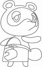 Drawing Nook Crossing Tom Animal Draw Easy Step Tutorial sketch template
