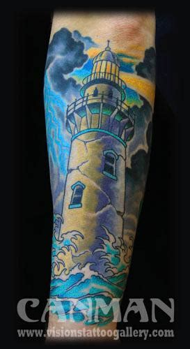 amazing lighthouse tattoos