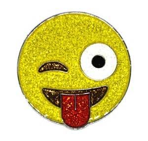 navika emoji jk glitter marker with hat clip