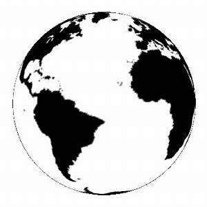 Black And White Earth Clip Art - ClipArt Best