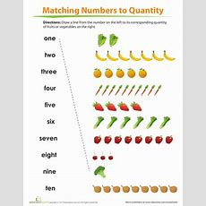 Match Number To Quantity  Worksheet Educationcom