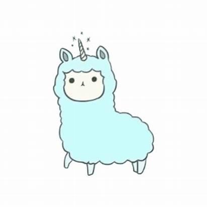 Llama Clip Clipart Lama Unicorn Kawaii Alpaca