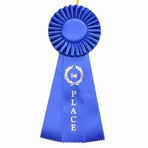 1st Place Three Streamer Rosette Ribbon, Celebration ...