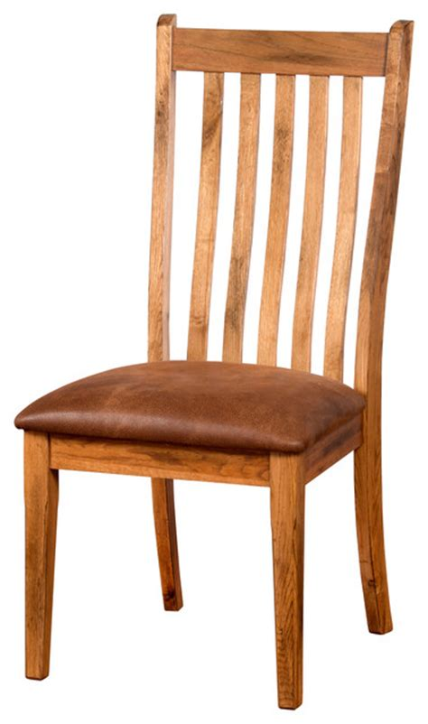 sedona high back dining chair with cushion rustic