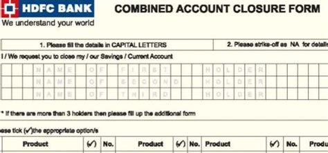 hdfc bank account opening form online how to close hdfc bank account online