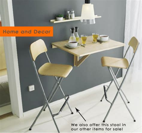 ikea norbo wall hung mounted folding dining table desk ebay