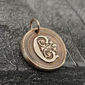 initial c modern wax seal letter charm in bronze by With wax seal letter c