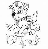 Paw Patrol Colorare Rocky Disegni Coloring Bambini Stampare Gratis Corre Felice Zuma Everest Immagini Disegno Cartoni Disney Animati Colouring Colorear sketch template