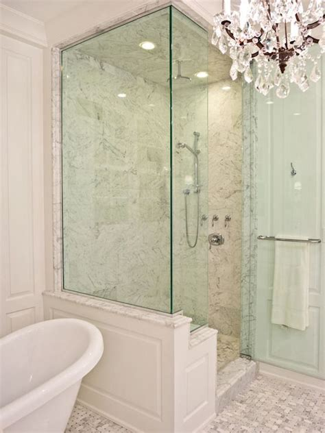 pld custom homes bathrooms walk  shower glass