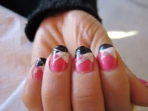 Pink and black nail designs trend manicure ideas in pictures