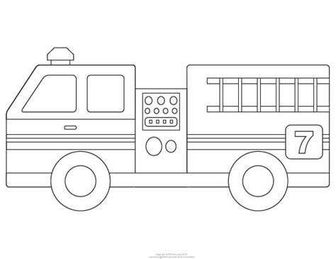 fire truck template dibujos drawings  pinterest
