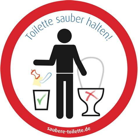 Bilder Für Die Toilette by Aufkleber F 252 R Eine Saubere Toilette G 228 Ste Wc
