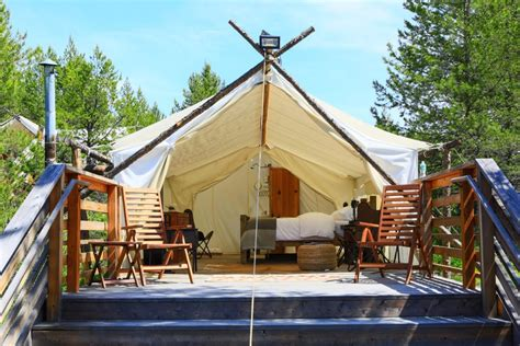 glamping in glacier national park montana luxury camping